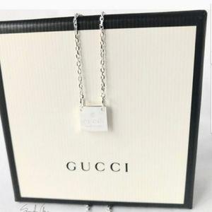 BRAND NEW authentic gucci trademark pendant silver